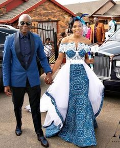 African Print Wedding Dress, African Wedding Attire, African Attire, African Dress, African Traditional Wedding Dress, Traditional Wedding Attire, Traditional Gowns, Best Wedding Suits, Shweshwe Dresses