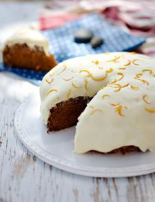 Annabel Langbein - Carrot cake with cream cheese icing in NZ Life and Leisure magazine.  To see more from Annabel please go to www.annabel-langbein.com