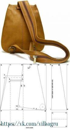 Шьем сумки своими руками - МК - Выкройки