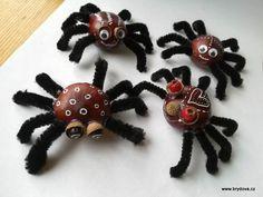 Kaštanoví pavouci - brydova.cz Brooch