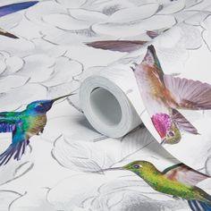Page 8 | Aruba Floral Birds Wallpaper | Departments | DIY at B&Q
