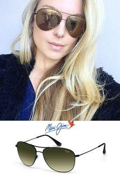 f32ef8887f Maui Jim Cliff House Polarized HTS247-02 Sunglasses