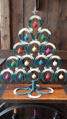 Horseshoe Christmas Tree with ornaments | Definitely Not Average ...