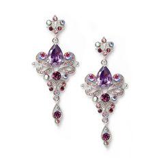 Amethyst Purple Chandelier Bridesmaid and Prom Earrings | Purple ...