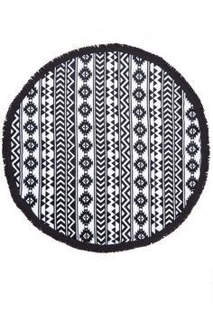 Tulum Printed Round Beach Towel   Calypso St. Barth