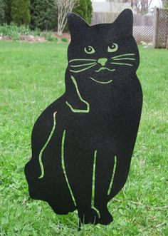 This handcrafted House Cat Garden Stake or Wall Hanging will become a decorative favorite. A fun way to add some excitement to your home or
