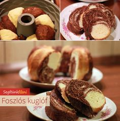 Foszlós kuglóf recept Sweet Stuff, Doughnut, Food And Drink, Bread, Recipes, Kitchens, Brot, Recipies, Baking