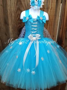 Welcome to My Tu2 Bowtique   This Disneys Queen Elsa Frozen inspired tutu dress is perfect for birthdays, dress up or any special occasions. This
