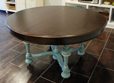Whoa! Maybe I will get the courage to paint the base of the table a real color?!