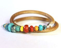 Turquoise Wrap Bracelet  turquoise spiny by ChickpeaDesignStudio, $73.00