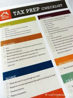 tax preparation checklist excel