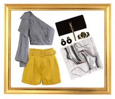 """gold look"" by gemagarczamb on Polyvore featuring Zimmermann, WithChic, Gucci and Yves Saint Laurent"