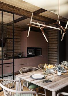 Trendy home interior design ideas indian kitchen ideas Home Garden Design, House Design, Log Home Kitchens, Indian Interiors, Craftsman House Plans, Trendy Home, Log Homes, Home Fashion, Interior Design Living Room