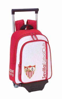 39444303194d4 Safta Mochila Infantil Sevilla F.C. Oficial Con Carro Safta 125x95mm   Amazon.es  Equipaje