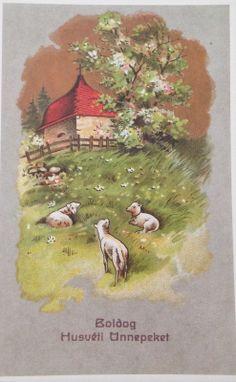 Hungarian Vintage Easter Cards easter_card_019