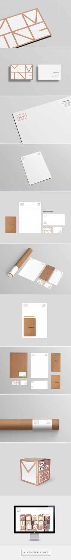 love this #typography and white space // Moving Co. #graphicdesign