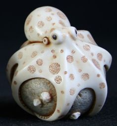 """Ivory Octopus"" Netsuke by Adam Binder (England), 2009"