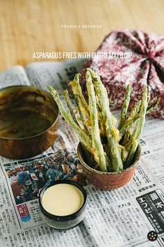 Asparagus Fries with Curry-Mayo  Dip | Pepper.ph