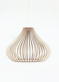 Wood Lamp / Wooden Lamp Shade / Hanging Lamp / Pendant Light / Decorative Ceiling Lamp / Modern Lamp