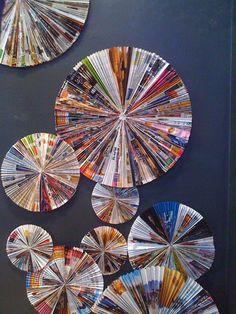 Magazine Page Pinwheels