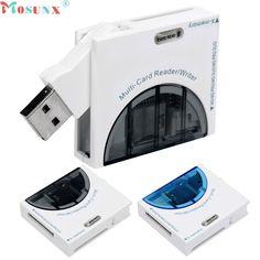 Hot Mini USB SD//MMC Memory Card Reader 480Mbps For Computer Laptop USB Card EC