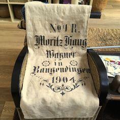 Antique 1904 German linen grain sack, Farmhouse deco, upholstery linen. Art nouveau design. Grain Sack, Sacks, Farmhouse Decor, Art Nouveau, Antiques, Unique Jewelry, Handmade Gifts, Etsy, Vintage