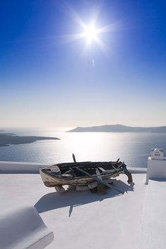 Sunny day in Firostefani, Santorini