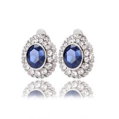 Cheap earring wire, Buy Quality earrings cartilage directly from China earings Suppliers:  Faceted Crystal Clip Earrings no hole without piercing puncture silver plated earrings flower clip on earrings for