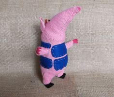 Hand knitted handmade stuffed toy from the by HandKnittedYorkshire