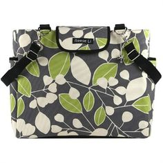 @rosenberryrooms is offering $20 OFF your purchase! Share the news and save!  Reese Li Charcoal Green Berry Lexington Diaper Bag #rosenberryrooms