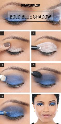 If you never thought you'd wear bright blue on your eyes, think again.