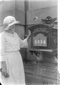 Berlin - the first Airmail stamp machine and postbox