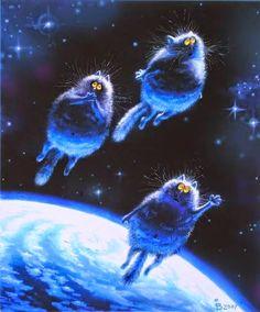 коты летят к звездам