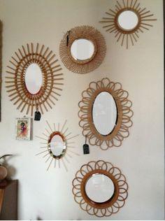 Un miroir en osier rotin bon courage a co te 3000 for Decoration murale osier