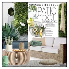 """""""Patio Cool"""" by eyesondesign ❤ liked on Polyvore featuring interior, interiors, interior design, home, home decor, interior decorating, Ballard Designs, Dot & Bo, Allstate Floral and MANGO"""
