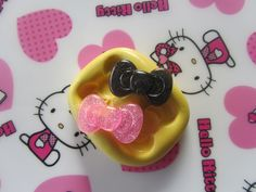 2 Bows 28mm X 12mm Flexible Kawaii Resin Mold, Wax, Soap, Candy, Food, Ice, Paper, Scupley III, Fimo and Premo Clay. $8.50, via Etsy.