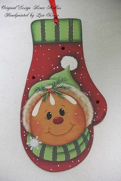 Mitten Gingerbread Ornament Renee Mullins design by Christmas Gingerbread Men, Gingerbread Ornaments, Christmas Wood, Christmas Pics, New Year's Crafts, Christmas Crafts, Christmas Decorations, Christmas Ornaments, Hand Painted Ornaments