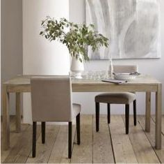 Natural Dinning Table from West Elm. Looks like a great possibility!