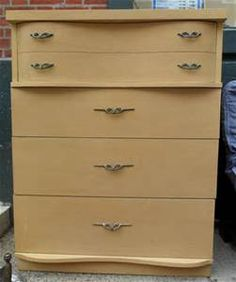 Vintage Bassett 50 39 S Blonde 4 Drawer Chest Dresser Chicago Pick Up Only Bassett 199 My