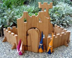Large Castle Block Set, for M Projects For Kids, Diy For Kids, Wood Projects, Backyard Playground, Playground Ideas, Toddler Playground, Woodworking Toys, Woodworking Projects, Mexico Christmas