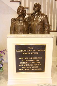 Zachary and Elizabeth Fisher statue in every Fisher House