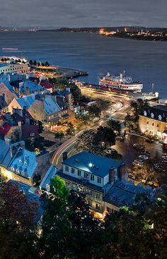 Place Royale on the St. Lawrence River, Quebec City, Canada ~ site of Samuel de Champlain's 2nd home built 1623-1626