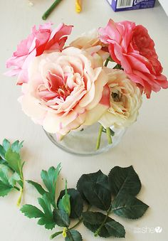 Making fake water for artificial flowers pinterest artificial create real like silk flower arrangements with clear vases mightylinksfo