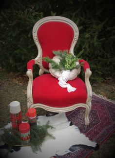 Celery City Trading Company Vintage Events & Rentals | red velvet holiday wedding décor.
