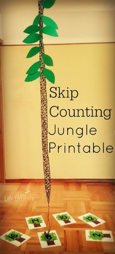 Free skip counting math activity with a jungle theme