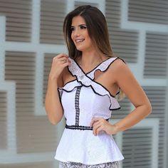 Blusa PERFEiTA🔝🔝🔝 #blackandwhite #renda #mix #look #fds #fashion #vemserunicas #amounicas #summer #loveit
