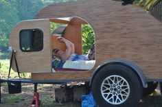 The construction of our teardrop camper