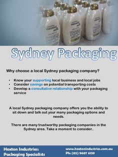 Why Choose A Local Sydney Packaging Company? #SydneyPackaging #PackagingSolutions