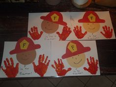 Community helpers occupation craft for preschool Fireman Crafts, Firefighter Crafts, Daycare Crafts, Classroom Crafts, Kids Crafts, Classroom Helpers, Fall Preschool, Preschool Activities, Space Activities