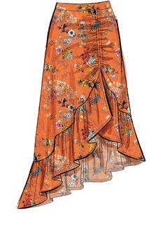 Dress Design Sketches, Fashion Design Sketches, Diy Fashion, Fashion Dresses, Modest Fashion, Womens Fashion, Skirt Patterns Sewing, Mccalls Patterns, Skirt Sewing